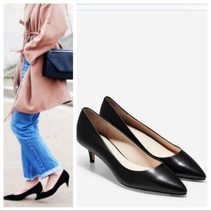 Cole Haan + Nike Air Black Kitten Heels